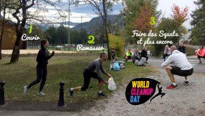 evenment FB activite footing croosfit ramassage WCUD 300x169 - Quels sont les petits gestes bons pour l'environnement durant nos sorties de loisirs - Hopika - Sorties de loisirs éco responsables en Haute-Savoie