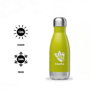 """Hopika gourde verte froid chaud carre 300x300 - Gourde isotherme """"Hopika"""" 260 ml - Hopika - Le guide des sorties eco-friendly sur les 2 Savoie et aux alentours"""