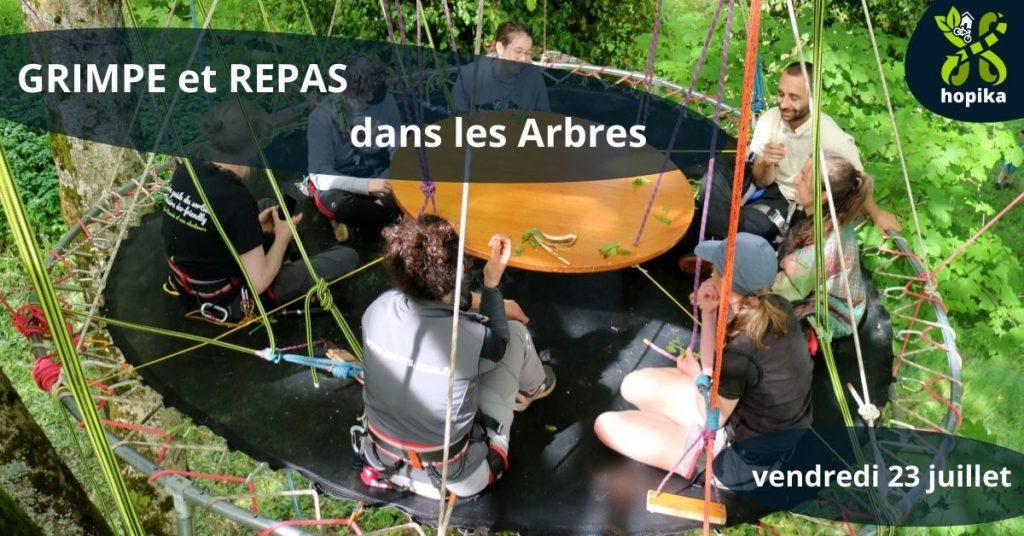 Hopika GRIMPE et REPAS dans les Arbres 1024x536 - Calendrier événementiel associatif - Hopika - Le guide des sorties eco-friendly sur les 2 Savoie et aux alentours